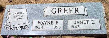GREER, JANET E. - Yavapai County, Arizona | JANET E. GREER - Arizona Gravestone Photos