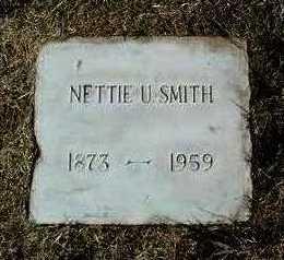 GRIFFEN SMITH, NETTIE U. - Yavapai County, Arizona | NETTIE U. GRIFFEN SMITH - Arizona Gravestone Photos