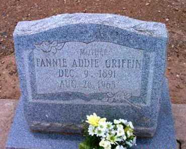 GRIFFIN, FANNIE ADELINE - Yavapai County, Arizona | FANNIE ADELINE GRIFFIN - Arizona Gravestone Photos