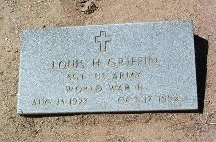 GRIFFIN, LOUIS H. - Yavapai County, Arizona | LOUIS H. GRIFFIN - Arizona Gravestone Photos
