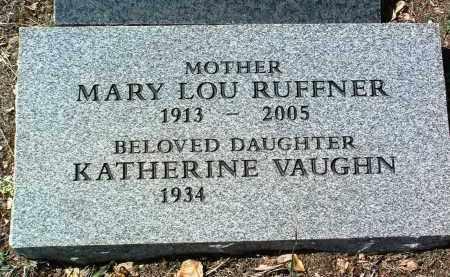 RUFFNER GRIFFITH, MARY - Yavapai County, Arizona | MARY RUFFNER GRIFFITH - Arizona Gravestone Photos