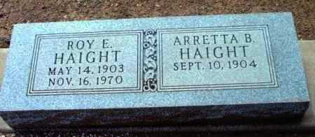 HAIGHT, ARRETTA B. - Yavapai County, Arizona | ARRETTA B. HAIGHT - Arizona Gravestone Photos