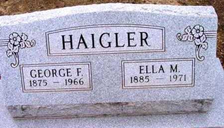 HAIGLER, GEORGE F. - Yavapai County, Arizona | GEORGE F. HAIGLER - Arizona Gravestone Photos