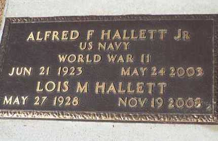HALLETT, ALFRED FRANKLIN, JR. - Yavapai County, Arizona | ALFRED FRANKLIN, JR. HALLETT - Arizona Gravestone Photos