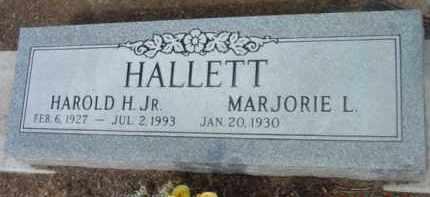 HALLETT, HAROLD HUMPHRY, JR. - Yavapai County, Arizona   HAROLD HUMPHRY, JR. HALLETT - Arizona Gravestone Photos