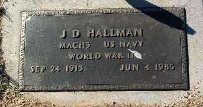 HALLMAN, J. D. - Yavapai County, Arizona | J. D. HALLMAN - Arizona Gravestone Photos