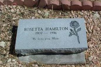 HAMILTON, ROSETTA - Yavapai County, Arizona | ROSETTA HAMILTON - Arizona Gravestone Photos