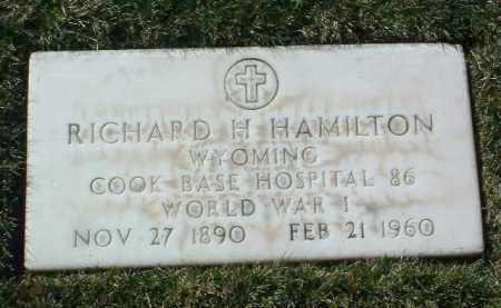 HAMILTON, RICHARD H. - Yavapai County, Arizona   RICHARD H. HAMILTON - Arizona Gravestone Photos