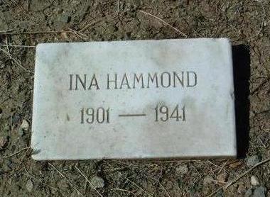 JONES HAMMOND, INA M. - Yavapai County, Arizona | INA M. JONES HAMMOND - Arizona Gravestone Photos