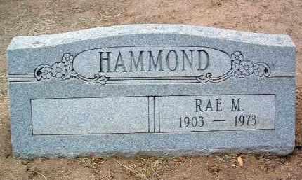 HAMMOND, RAE M. - Yavapai County, Arizona   RAE M. HAMMOND - Arizona Gravestone Photos