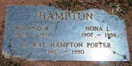 HOLDER HAMPTON, NONA LOUISE - Yavapai County, Arizona | NONA LOUISE HOLDER HAMPTON - Arizona Gravestone Photos