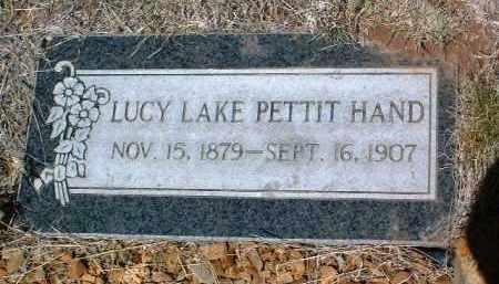PETTIT HAND, LUCY LAKE - Yavapai County, Arizona   LUCY LAKE PETTIT HAND - Arizona Gravestone Photos