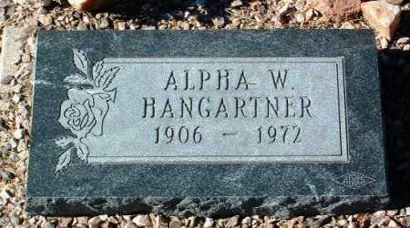 HANGARTNER, ALPHA WILLIAM - Yavapai County, Arizona | ALPHA WILLIAM HANGARTNER - Arizona Gravestone Photos