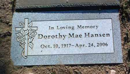 WILLIAMS HANSEN, DOROTHY - Yavapai County, Arizona | DOROTHY WILLIAMS HANSEN - Arizona Gravestone Photos