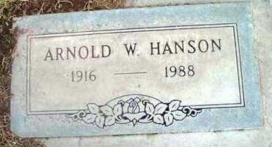 HANSON, ARNOLD W. - Yavapai County, Arizona | ARNOLD W. HANSON - Arizona Gravestone Photos