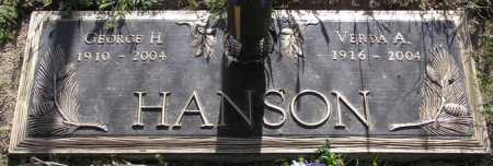 HANSON, GEORGE H. - Yavapai County, Arizona | GEORGE H. HANSON - Arizona Gravestone Photos