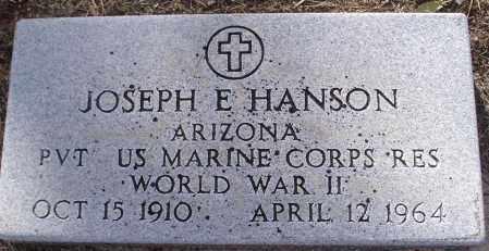 HANSON, JOSEPH E. - Yavapai County, Arizona | JOSEPH E. HANSON - Arizona Gravestone Photos