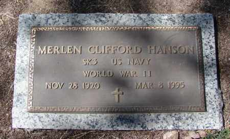 HANSON, MERLEN CLIFFORD - Yavapai County, Arizona | MERLEN CLIFFORD HANSON - Arizona Gravestone Photos