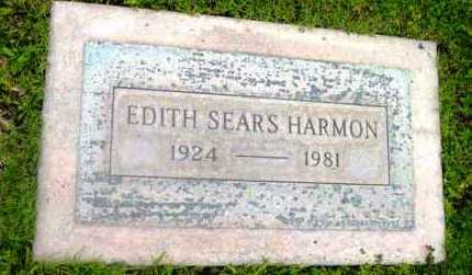 SEARS HARMON, EDITH - Yavapai County, Arizona | EDITH SEARS HARMON - Arizona Gravestone Photos