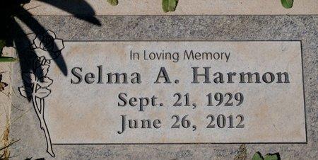 HARMON, SELMA A. - Yavapai County, Arizona   SELMA A. HARMON - Arizona Gravestone Photos
