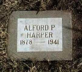 HARPER, ALFORD PARK - Yavapai County, Arizona   ALFORD PARK HARPER - Arizona Gravestone Photos