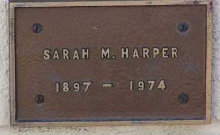 HARPER, SARAH MILDRED - Yavapai County, Arizona | SARAH MILDRED HARPER - Arizona Gravestone Photos