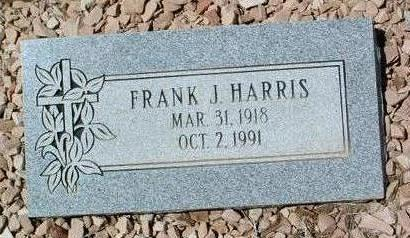 HARRIS, FRANK JAMES - Yavapai County, Arizona | FRANK JAMES HARRIS - Arizona Gravestone Photos