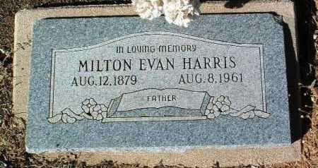 HARRIS, MILTON EVAN - Yavapai County, Arizona | MILTON EVAN HARRIS - Arizona Gravestone Photos