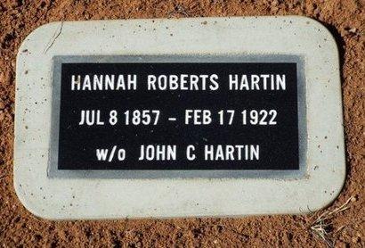 ROBERTS HARTIN, HANNAH - Yavapai County, Arizona | HANNAH ROBERTS HARTIN - Arizona Gravestone Photos