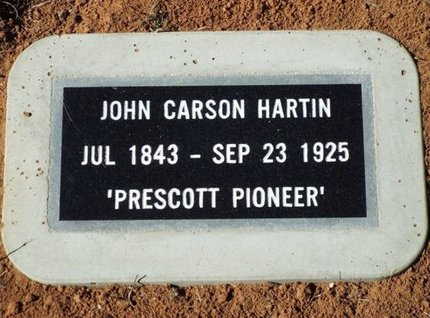 HARTIN, JOHN CARSON - Yavapai County, Arizona | JOHN CARSON HARTIN - Arizona Gravestone Photos