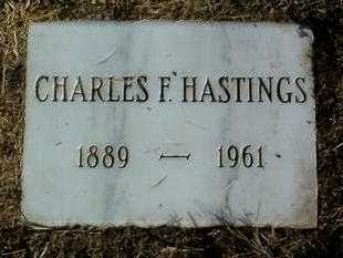 HASTINGS, CHARLES F. - Yavapai County, Arizona | CHARLES F. HASTINGS - Arizona Gravestone Photos