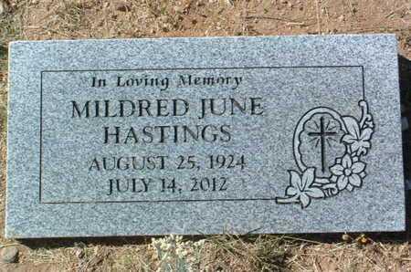 HASTINGS, MILDRED JUNE - Yavapai County, Arizona   MILDRED JUNE HASTINGS - Arizona Gravestone Photos