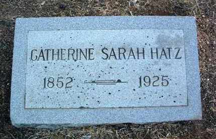 HATZ, CATHERINE SARAH - Yavapai County, Arizona | CATHERINE SARAH HATZ - Arizona Gravestone Photos