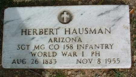HAUSMAN, HERBERT ADOLPH - Yavapai County, Arizona | HERBERT ADOLPH HAUSMAN - Arizona Gravestone Photos