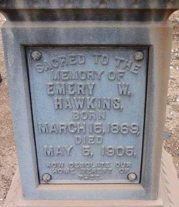 HAWKINS, EMERY WASHINGTON - Yavapai County, Arizona   EMERY WASHINGTON HAWKINS - Arizona Gravestone Photos