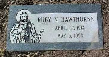 HAWTHORNE, RUBY N. - Yavapai County, Arizona | RUBY N. HAWTHORNE - Arizona Gravestone Photos