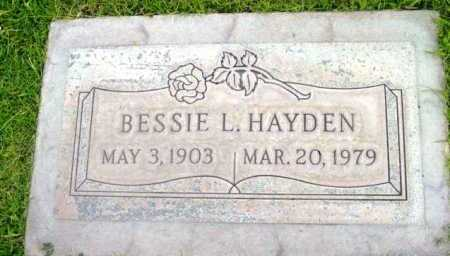 HAYDEN, BESSIE L. - Yavapai County, Arizona | BESSIE L. HAYDEN - Arizona Gravestone Photos