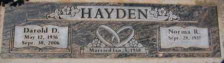 HAYDEN, DAROLD D. - Yavapai County, Arizona | DAROLD D. HAYDEN - Arizona Gravestone Photos