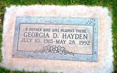 HAYDEN, GEORGIA DEE - Yavapai County, Arizona   GEORGIA DEE HAYDEN - Arizona Gravestone Photos