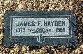 HAYDEN, JAMES FRANCIS - Yavapai County, Arizona | JAMES FRANCIS HAYDEN - Arizona Gravestone Photos