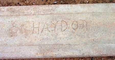 HAYDON, UNKNOWN - Yavapai County, Arizona | UNKNOWN HAYDON - Arizona Gravestone Photos