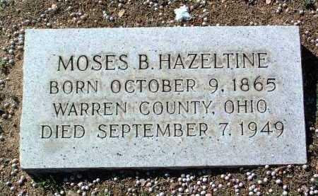 HAZELTINE, MOSES BONSALL - Yavapai County, Arizona   MOSES BONSALL HAZELTINE - Arizona Gravestone Photos