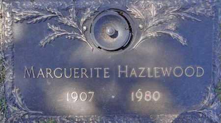 HAZLEWOOD, MARGUERITE H. - Yavapai County, Arizona   MARGUERITE H. HAZLEWOOD - Arizona Gravestone Photos