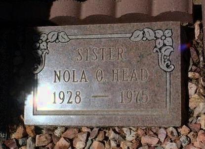 HEAD, NOLA O. - Yavapai County, Arizona | NOLA O. HEAD - Arizona Gravestone Photos