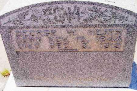 HEATH, GEORGE W. - Yavapai County, Arizona   GEORGE W. HEATH - Arizona Gravestone Photos