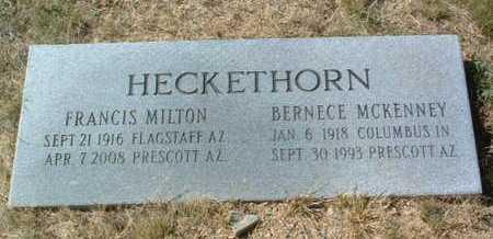 HECKETHORN, BERNECE - Yavapai County, Arizona   BERNECE HECKETHORN - Arizona Gravestone Photos