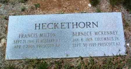 HECKETHORN, FRANCIS M. - Yavapai County, Arizona   FRANCIS M. HECKETHORN - Arizona Gravestone Photos