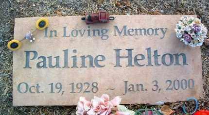 HELTON, PAULINE - Yavapai County, Arizona   PAULINE HELTON - Arizona Gravestone Photos