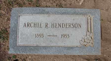 HENDERSON, ARCHIE RICHARD - Yavapai County, Arizona   ARCHIE RICHARD HENDERSON - Arizona Gravestone Photos