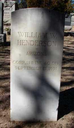 HENDERSON, WILLIAM WILLIS - Yavapai County, Arizona | WILLIAM WILLIS HENDERSON - Arizona Gravestone Photos